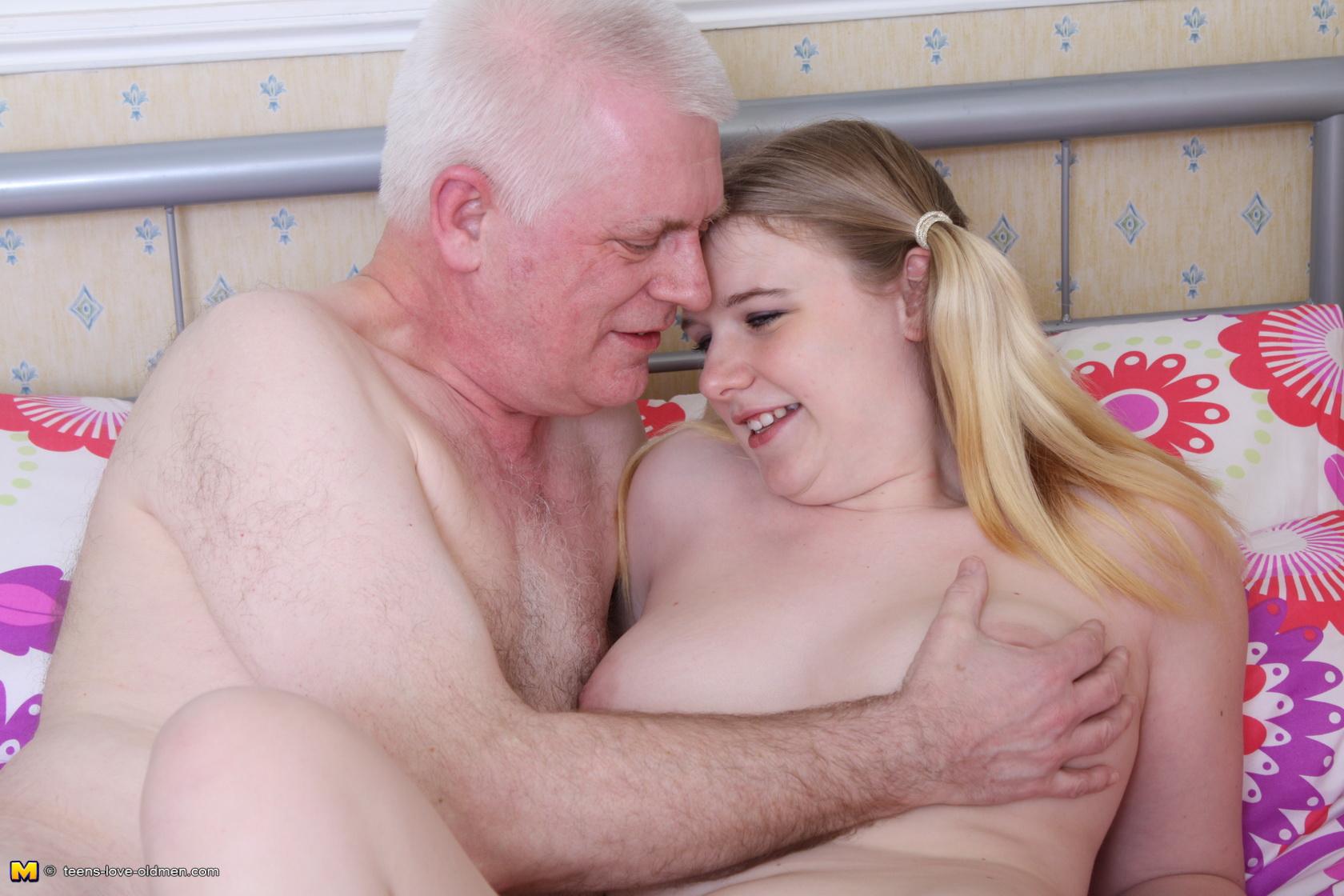British Old Man Young Girl